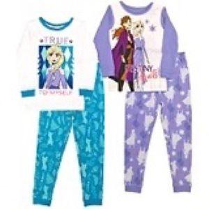 AME Character Kids 4-piece Pajama, Disney Frozen